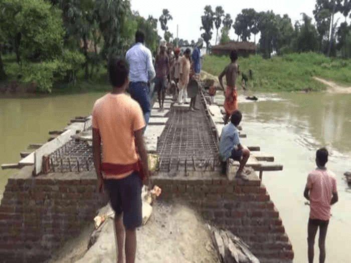 बिहार: सुशासन की सरकार ने  नहीं सुनी गुहार, गया जिले के बुधौल के लोगों ने चंदा कर बना लिया  पुल